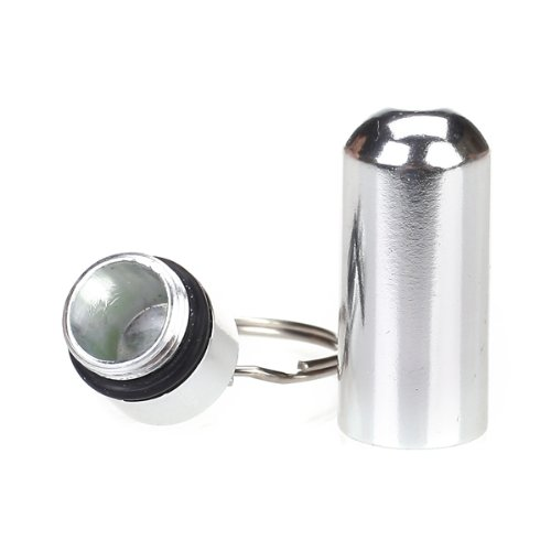 Water-proof-Air-tight-Pill-Fob-Aluminum-Alloy-Pill-Case-Pill-Box-Pill-Holder-with-Keychain-Used-for-Holding-Aspirin-Cold-Tablets-Pain-Medication-and-Vitamins-and-Id-Tag-Notes-Silver