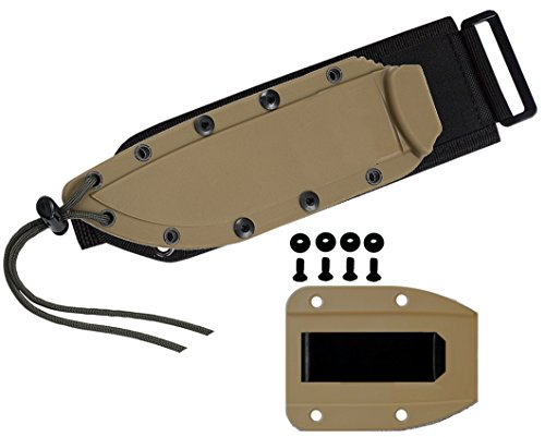 Esee Esee-4 Accessories Kydex Sheath, Clip Plate & Molle Back