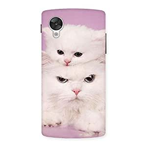 Delighted Kitty Family Back Case Cover for Google Nexsus 5