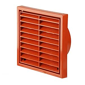 Terracotta Square Louvre Air Vent Duct Grille Extractor