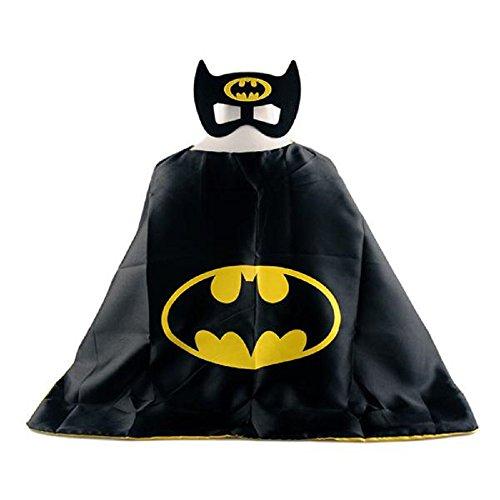 [Batman Superhero Cape + Mask Children Halloween Costume] (Batwoman Costume Cape)