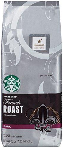 Starbucks French Roast Ground Coffee, 20 Ounce, 6 Count (Starbucks Ground Coffee Roast compare prices)