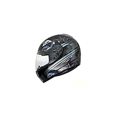 CASQUE INTEGRAL ASTONE GTO VOLCANIC NOIR/BLEU 53-54 XS