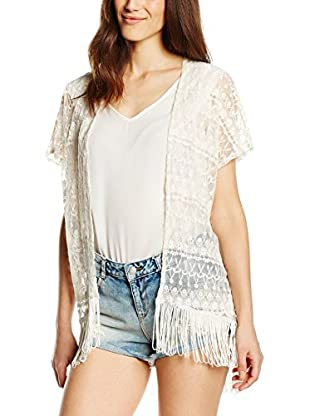 LTB Jeans Chaqueta Punto Serila Kimono (Blanco)