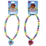 Disney Doc McStuffins Beaded Rainbow Necklace with Heart Charm - Assorted Styles