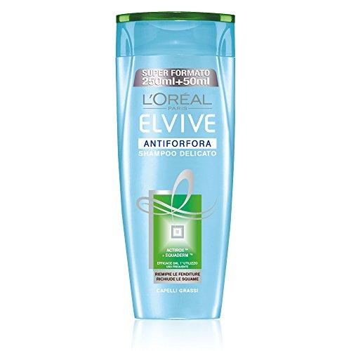 L'Oréal Paris Elvive Antiforfora Shampoo Delicato per Capelli Grassi, 300 ml