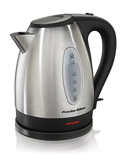 Proctor Silex 40884A Stainless Steel Electric Kettle, 1.7-Liter
