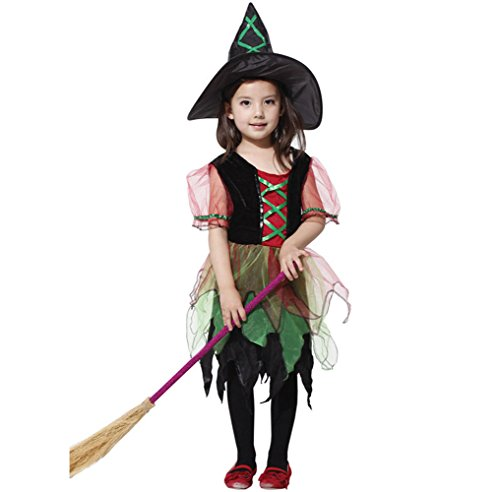 Sixkiss Halloween Storybook Witch Girls Costume