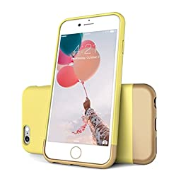 iPhone 6 Case, FlexionTM [Euphoria Series] Ultimate Protection Scratch Proof Soft Interior Vibrant Hard Case for iPhone 6 / 6S  (4.7) **Lifetime Warranty** (Daffodil/Gold)