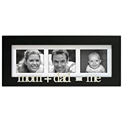 [Best price] Kids&#039 - Mom+Dad=me Wood 3 Opening Picture Frame Collage for 3x3 - toys-games