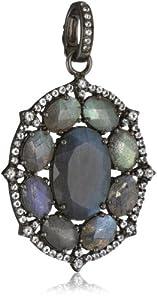 Sutra White Topaz and Labradorite Pendant Necklace Enhancers