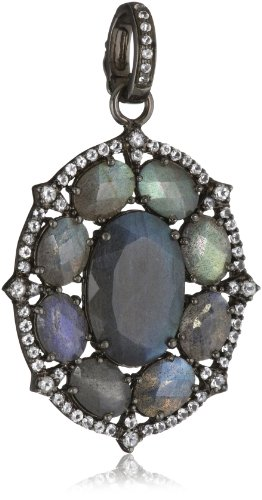 Sutra White Topaz and Labradorite Pendant Necklace Enhancers