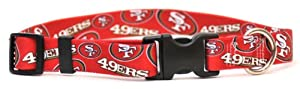 Yellow Dog Design San Francisco 49ers Licensed NFL Dog Collar, Large, 18-Inch by 28-Inch