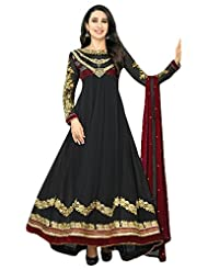 Faux Georgette Embroidered Anarkali suit