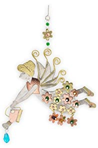 Pilgrim Imports Flower Fairy Metal Fair Trade Ornament