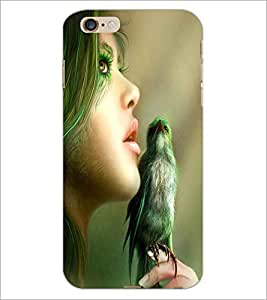 PRINTSWAG GIRL WITH BIRD Designer Back Cover Case for APPLE IPHONE 6 PLUS G355H