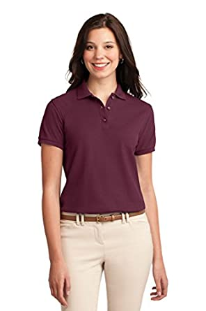Port Authority L500 Ladies Silk Touch Polo - Burgundy - S