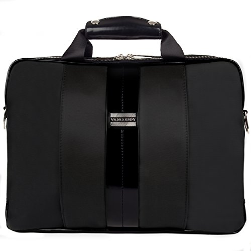 Click to buy VanGoddy Black Laptop Messenger Bag for Fujitsu Lifebook / Stylistic - From only $39.99