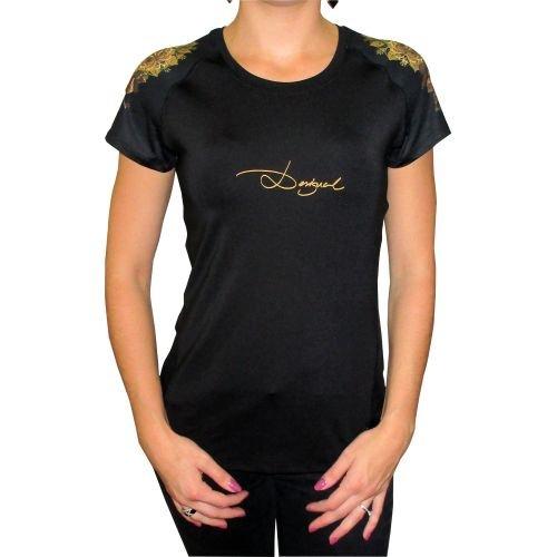 Desigual donna lavorato a maglia a maniche corte T-Shirt TS A-T-S Sol, Colore Nero, L, 67T2SA4