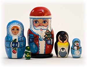 Christmas Russian Nesting Doll 5pc./3.5