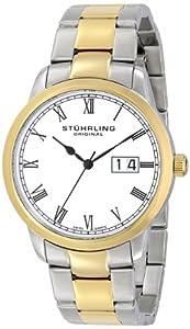 Stuhrling Original Men's 831B.02 Classic Cuvette Panache Elite Analog Display Swiss Quartz Two Tone Watch