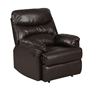 ProLounger Wall Hugger Renu Leather Recliner, Coffee Brown