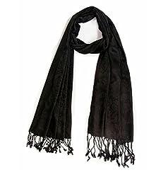 Malkit Creation Exotic Black Colour Stole