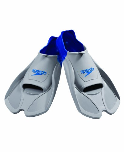 Speedo Biofuse Swim Training Fins (Grey/Navy, XX-Large)