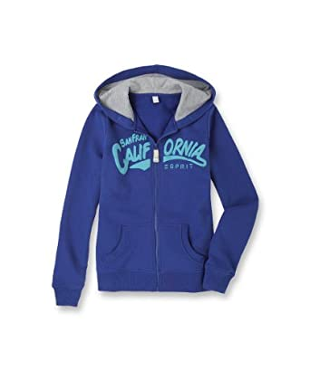 Esprit - sweat-shirt  capuche - fille - Bleu (Bleu Roi) - FR : 8 ans (Taille fabricant : 128/134)