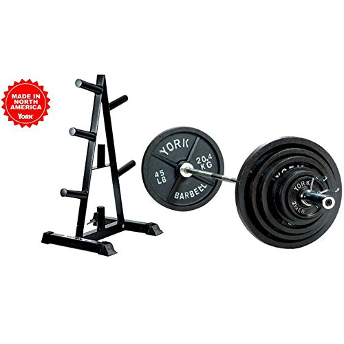 300lb-Olympic-Weight-Set-300-lb-Weight-Set-Includes-Bar-and-Weight-Tree-with-Weights