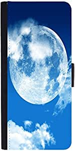 Snoogg blue sky moonDesigner Protective Flip Case Cover For Apple Iphone 6s