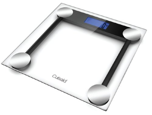 Cuisaid ProDigital AccuWeigh Bath Scale, Step N See Technology, 3 inch Extra Large Backlit Display (Tempered Safety Glass)