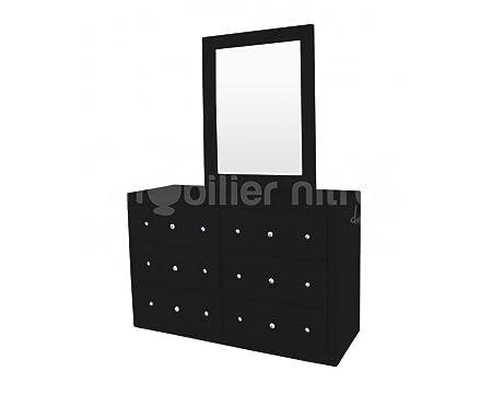 Commode design Baltimore + miroir Noir