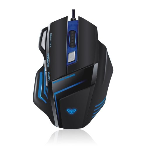 Aula Ghost Shark 7D 2000Dpi Usb Wired Backlight Programmable Gaming Mouse For Pc Gamer