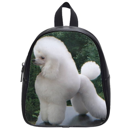top sale Pround poodle puppy Custom Kids School Backpack Bag(Small) amazing