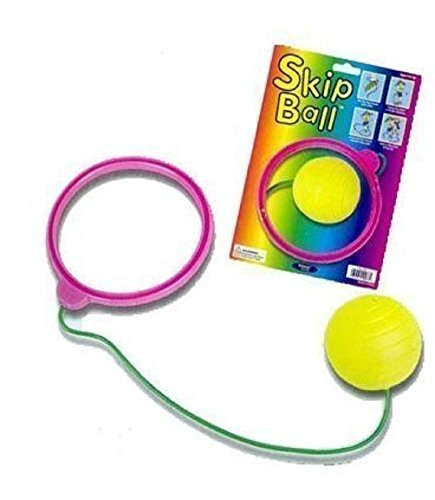 Toysmith - Super Spinning Skip Ball, 1 Each, (Colors May Vary) - 1