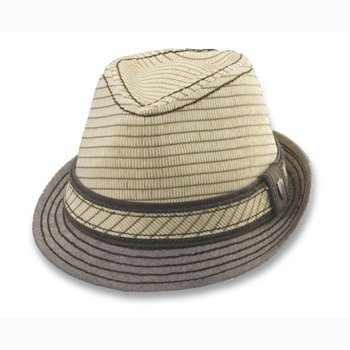 Toyo braid fedora with self overlay trim