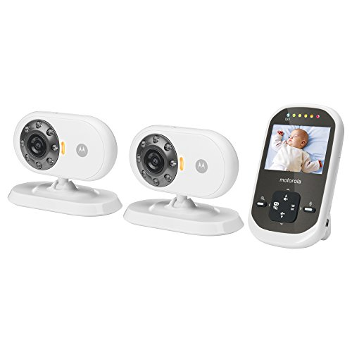 motorola mbp25 2 wireless video baby monitor lcd color screen and two cameras 2 4 inch. Black Bedroom Furniture Sets. Home Design Ideas
