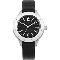 Karen Millen KM109B Ladies Black Leather Strap Watch