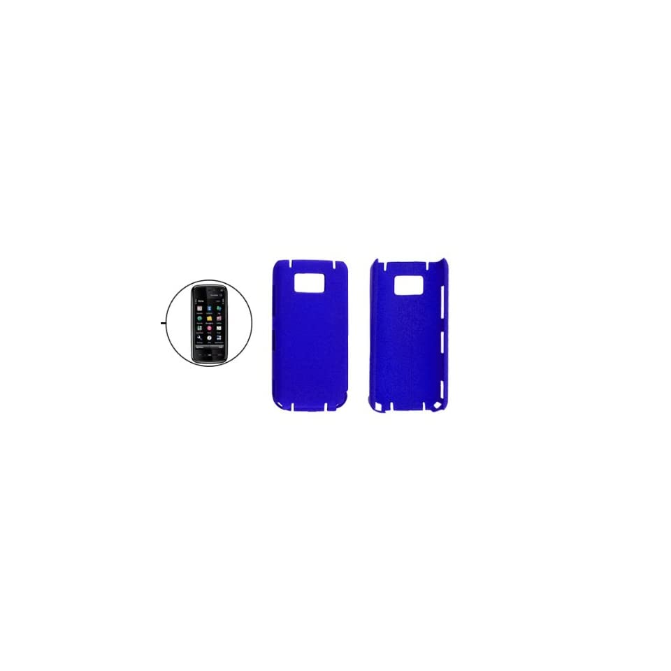 Gino Blue Rubberized Hard Plastic Case Cover for Nokia 5530