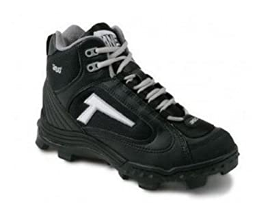 Buy Tanel 360 Mens REV-D Mid Cut Cleats with SpiderFlex. All Black. by Tanel 360