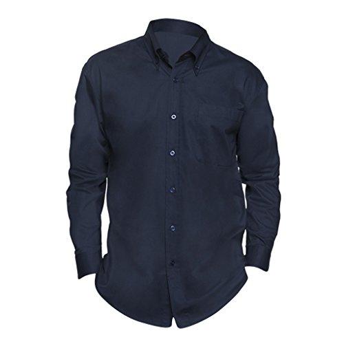 SOLS - Camicia Maniche Lunghe 100% Cotone - Uomo (4XL) (Blu navy)