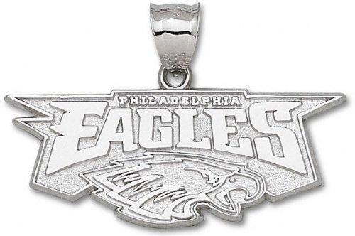 Philadelphia Eagles Sterling Silver ''EAGLES'' Head Giant Pendant