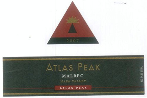 2007 Atlas Peak Malbec, Atlas Peak Mtn 750 Ml
