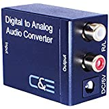 C&E CNE77338 Digital Optical Coax to Analog R/L Audio Converter