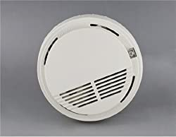 TR IR Control 9V Battery Operated Smoke Alarm (White) from TR