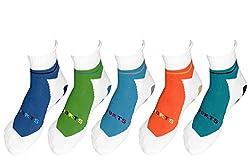 Careus Men's Socks (Pack of 5 ) (SCK-104_Multi-coloured)