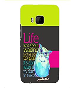 Colourcraft Quotes Back Case Cover For Htc One M9