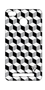 Vogueshell Cube Pattern Printed Symmetry PRO Series Hard Back Case for Xiaomi Redmi 3S Prime