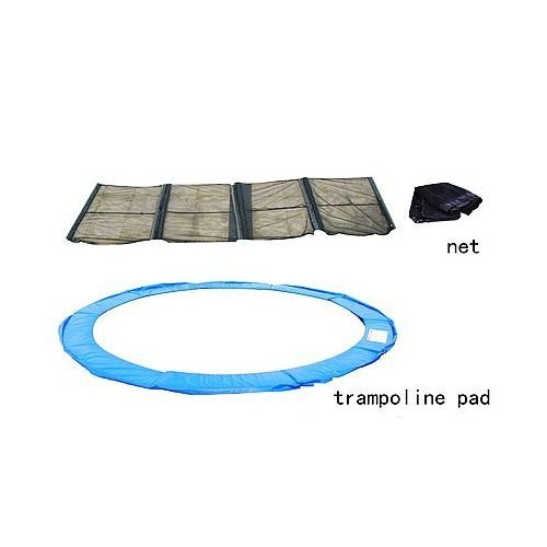 Propel 14 Trampoline With Fun Ring Enclosure: 14 Trampoline Replacement Safety Pad W Enclosure Net Combo